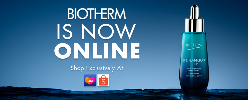 Biotherm is now online - shop exclusively at lazada and shopee